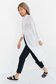 BDG Maxi Gauze Button-Down Shirt - Urban Outfitters - shirts, casual, birthday, band, girl, couple shirt *ad