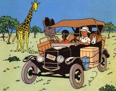 Tintin in Congo - Ford Model T
