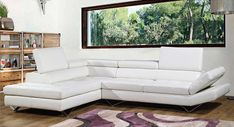 ]Simple White Leather Sofa Can Easily Brighten A Space, But Looks ...Needs a different rug or a different picture.