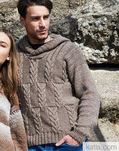 Book Woman Sport 94 Autumn / Winter | 39: Man Sweater | Fawn brown