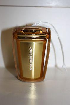 Brand New! 2012 Starbucks Christmas Gold Ornament Holiday Cup Mug