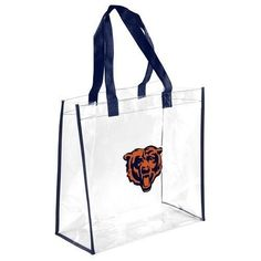 Chicago Bears NFL Clear Reusable Bag