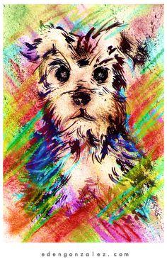 Eden Gonzalez: CUTE DOG - DRAWINGI love my Frankie!