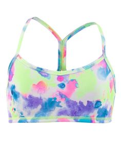 Wear under your jersey for extra coverage as a crop top to dance   Drill Sport Bra