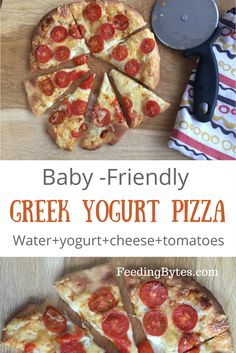 Only four ingredient baby friendly Greek Yogurt pizza is great for baby Led Weaning or just as a nutritious finger food for your baby and the whole family rezepte mittagessen baby 1 jahr baby 10 monate baby led weaning Easy Meals For Kids, Toddler Meals, Kids Meals, Toddler Food, Toddler Recipes, Baby Meals, Toddler Pizza Recipe, Toddler Nutrition, Cheap Clean Eating