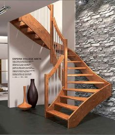 staircase in wood