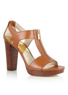 Michael Kors Berkley sandaal van leer