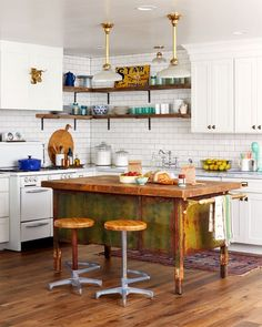 Make It Your Style: Kitchen Island Alternatives Using Repurposed Pieces | Apartment Therapy
