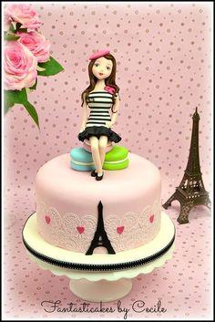 La petite Parisienne (my little Parisian) by Fantasticakes Cecile Crabot (4/9/2013) View details here: http://cakesdecor.com/cakes/57842