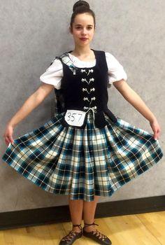 Leah Whitten in her new Bonnie Shadow Aboyne Outfit made by Karen Fyfe from Karen's Kilts Scottish Highland Dance, The Bonnie, Tartan, Kilts, Dancer, Velvet, Art Things, November 2015, Outfits