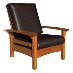 Oak Mission Low Back Wide Chair Amish Furniture Solid