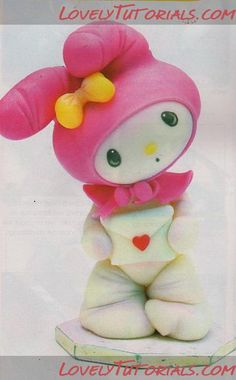 My Melody character, step by step in Spanish