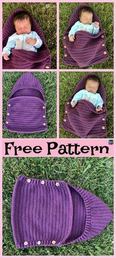 New Ideas crochet baby sleep sack pattern hats Newborn Crochet, Crochet Baby, Free Crochet, Irish Crochet, Crochet Cocoon, Crochet Afghans, Crochet Shawl, Knit Crochet, Baby Sack