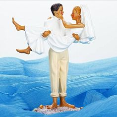 Amazon.com: I Hold You Forever Bride And Groom Figurine Cake Topper: Kitchen & Dining