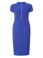 Womens Cobalt Zip Dress- Cobalt