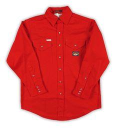 Rasco FR Red Western Shirt with Snaps oz - Custom Embroidery, Work Shirts, Western Shirts, Work Wear, Rain Jacket, Windbreaker, Raincoat, Father, Man Shop