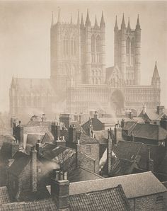"""Frederick H. Evans, """"Lincoln Cathedral from the Castle"""" (1898"""