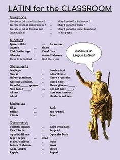 Latin for the Classroom by Magistra F Latin Language Learning, Teaching Latin, Learning Languages Tips, Latin Quotes, Latin Phrases, Latin Words, Homeschool Kindergarten, Homeschooling, Learn Russian