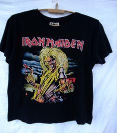 shirt Iron Maiden The Number of the Beast XL T-Shirt mens heavy metal Judas Priest Saxon Metallica Guns N Roses Slayer motorhead venom by BestboutiqueByJulia on Etsy Metal T Shirts, Old Shirts, Megadeth T Shirt, Number Of The Beast, Mens Sleeve, Judas Priest, Iron Maiden, Band Tees, Heavy Metal