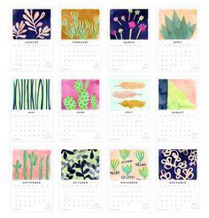 2015 Watercolor Wall Calendar | Fine Day Press
