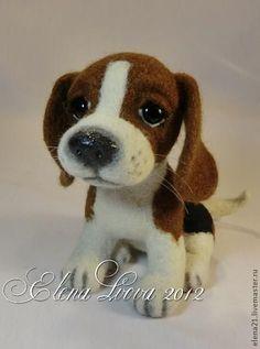Master-Klasse auf Filzwolle Beagle Welpen - Messe Masters - handmade, handmade