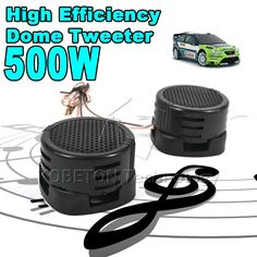 2016 New Universal Car Mini Dome Tweeter High Efficiency Portable 2x500w Loudspeaker Loud Speaker Super Power Audio Sound Klaxon