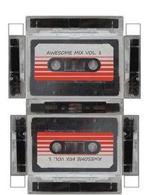 "Guardians of the Galaxy: DYI Mini-Kassettenbox ""Awesome Mix Vol 1 Geschenkbox zum Ausdrucken"" / Photo Nika Watercolor Clipart, Watercolor Mermaid, Diy Paper, Paper Art, Paper Crafts, Art Zen, Origami, Image Couple, Cassette"