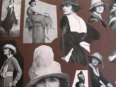 More pictures from the old scrapbook I found at Goodwill: hats! by litlnemo, via Flickr