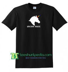 Unicorn Hourse T shirt gift tees adult unisex custom clothing Size S-3XL