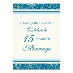 See MoreBlue Floral 15th Anniversary Party Invitationwe are given they also recommend where is the best to buy
