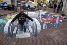 3D Chalk Art That Will Mess With Your Mind - Parking Lot