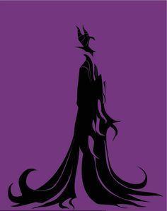 Resultado de imagen de maleficent silhouette