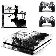 Kingdom Hearts Vinly PS4 Skin Sticker for Sony PS4 Console and 2 Controllers Decal
