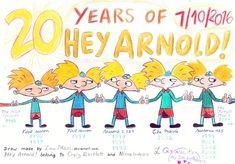 Twenty years of Hey Arnold! by LauMari