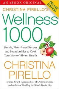 Christina Pirello has compiled a list of 1,000 recipes, tips and techniques for vegan cooking!  Christina Pirello's Wellness 1000: Simple Plant-Based Recipes and Sound Advice to Cook Your Way To Vibrant Health is extensive, to say the least, with recipes including cooking basics such as stocks, sauces, soups to extensive with sections on tempeh, grains, tofu and deserts!  http://vegetariansnob.com/interview-with-vegan-celebrity-chef-christina-pirello/