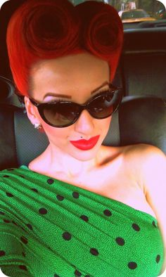 Retro Pinup Hair. Very cool.