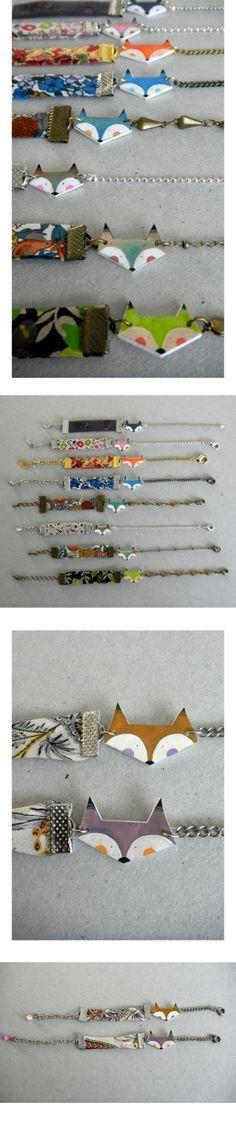 Kdo à faire soi-même : forme en plastic fou, éléments au choix de bracelet chez Cultura , on assemble le tout et hop!