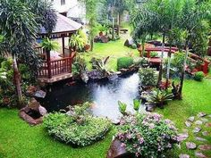 60 Gorgeous Backyard Ponds and Water Garden Landscaping Ideas Gladecor com is part of Ponds backyard Giving life to your backyard can be achieved by doing a lot of things such as planting a lot of - Ponds For Small Gardens, Small Ponds, Backyard Water Feature, Ponds Backyard, Backyard Ideas, Garden Ponds, Garden Water, Pergola Ideas, Water Gardens