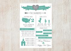Year in Review Christmas/New Year Card by SimpleSimonDesign, $20.00