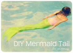 Swimmable Mermaid Tail Play mermaid for real with this DIY mermaid tail tutorial. OH YESHHHHH