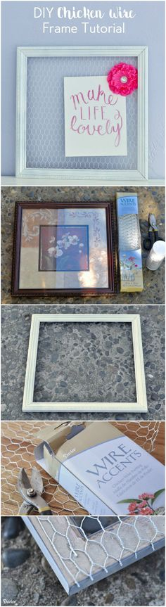 With just a few supplies and a few dollars, you can make your own DIY chicken wire frame for much less than it's craft store counterpart!