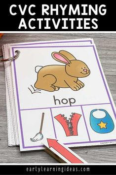These rhyming clip cards will help your kids see and hear rhymes in simple CVC words. Kids love clipping clothespins on the rhyming words in this activity. Perfect for small group or independent activities in your preschool, pre-k, kindergarten, or SPED classroom, or at home. An engaging way to teach rhyming, early literacy concepts, and phonological awareness to young children. Word Family Activities, Rhyming Activities, Language Activities, Hands On Activities, Literacy Skills, Early Literacy, Literacy Centers, Phonemic Awareness Activities, Phonological Awareness