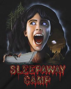 Horror Movie Posters, Movie Poster Art, Horror Films, Film Posters, Cult Movies, Scary Movies, Best Classic Horror Movies, Sleepaway Camp, Creepy Horror