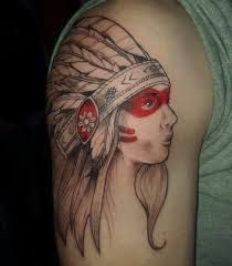 Indian Tattoo Girl by Dana Morse Girl Tattoos, Indian Tattoos, Pocahontas, Gallery, Tattoo Ideas, Tattoos For Girls, Roof Rack, Tattoo Women, Tattoo Girls
