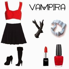 Fantasia improvisada de vampira.