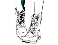 boots illustration fashion