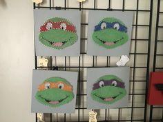 TNMT teenage mutant ninja turtles string art for boys room decore from my Etsy shop https://www.etsy.com/listing/482752431/teenage-mutant-ninja-turtles-string-art