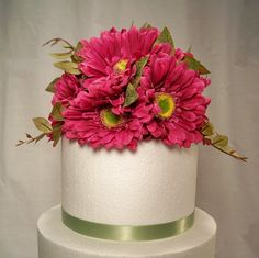 @ Meagan, came across this on etsy and thought of you.  Wedding Cake Topper - Fuchsia Gerbera Daisy. $29.99, via Etsy.