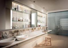 PIASTRELLE DOLCEVITA, bagno moderno ceramica bicottura #LaFaenzaCeramica http://www.lafaenzaceramica.com/it/prodotti/collezione/dolcevita/
