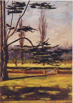Winston Churchill ~ Garden Scene at Breccles